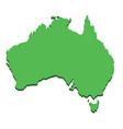 australia map silhouette australian continent vector image vector image