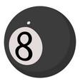 ball for billiards icon cartoon style vector image