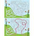 Boy scout maze vector image vector image