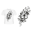 Butterfly design t shirt vector image