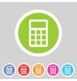 calculator flat icon vector image