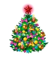 Christmas tree with toys isolated vector image vector image