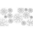 citrus contour vector image vector image
