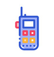 climbing gps assistant device alpinism icon vector image vector image