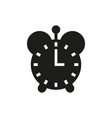 clock icon on white background vector image