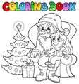 coloring book santa claus theme 6 vector image