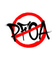 crossed out pfoa icon drawn spray vector image
