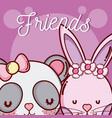 cute animal friends vector image