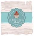 Cute cupcake gift card vector image vector image