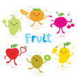 cute fruit cartoon vector image