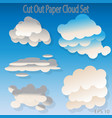 cutout paper flat cloud set design elements vector image vector image
