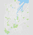 detailed color map of belfast vector image vector image