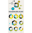 elements infographics with buttons and menus vector image vector image