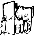 elephant door vector image