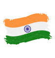 flag of india grunge abstract brush stroke vector image
