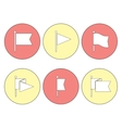 Flag Pin Flat Icon Set vector image vector image