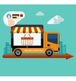 Flat design online shopping and delivery concept vector image