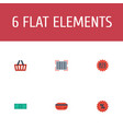 flat icons percentage payment bag and other vector image vector image