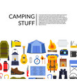 flat style camping elements background vector image vector image