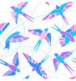 flight swallows - mosaic pattern vector image vector image