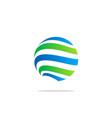 globe line sphere absract technology logo vector image