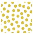 Golden spots seamless pattern vector image