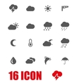 grey weather icon set vector image
