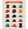 Hipster Retro Hats Vintage Icon Set vector image