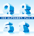 ice alphabet part 5 vector image vector image