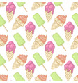 ice cream pattern isolated vector image