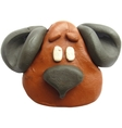 Icon of plasticine toy dog vector image vector image