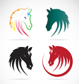 images of horse design vector image vector image