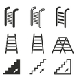 Ladder icon set vector image vector image