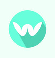 letter w logotype vector image