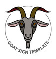 linear stylized sign with goats head vector image vector image