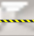 lines of barrier tape vector image vector image