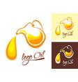 logo olive oil symbol jug vector image