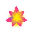 lotus flower logo sign flat flower icon vector image