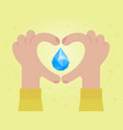 love water save water concept vector image