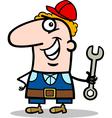 manual worker cartoon vector image vector image