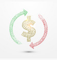 money convert icon form lines and particle vector image vector image