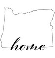 oregon state map outline with home vector image vector image