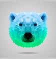 Polar bear poly gradient blue green vector image vector image