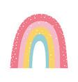 rainbow fantasy magic cartoon isolated design icon vector image vector image