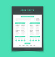 resume letter personal cv sample with vector image vector image
