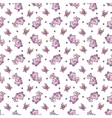 seamless pattern with hippopotamus in cartoon vector image