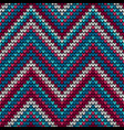 seamless waves knitting pattern background vector image vector image