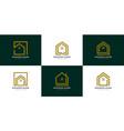 set modern home logo design vector image vector image