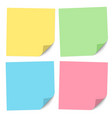 set note papers different colors vector image vector image
