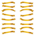 shiny golden ribbons set vector image vector image